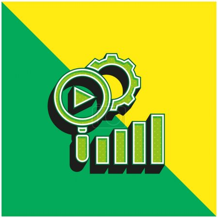 Illustration for Analysis Green and yellow modern 3d vector icon logo - Royalty Free Image