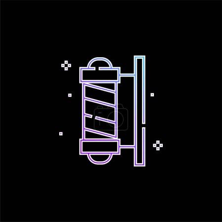 Illustration pour Barber Pole bleu dégradé icône vectorielle - image libre de droit