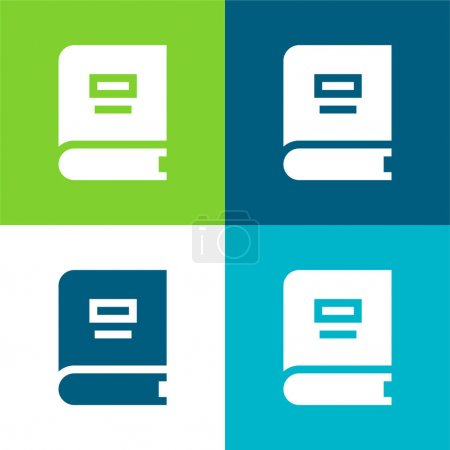 Illustration for Book Flat four color minimal icon set - Royalty Free Image