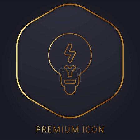 Illustration pour Brainstorming ligne d'or logo premium ou icône - image libre de droit