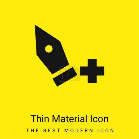 Illustration pour Ajouter Point minimal jaune vif icône matérielle - image libre de droit