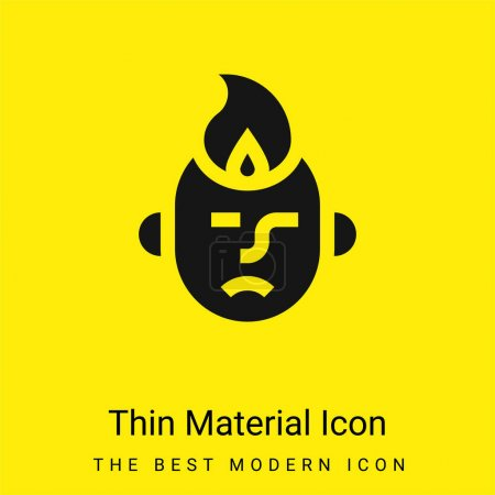 Anger minimal bright yellow material icon