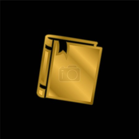 Illustration for Book gold plated metalic icon or logo vector - Royalty Free Image