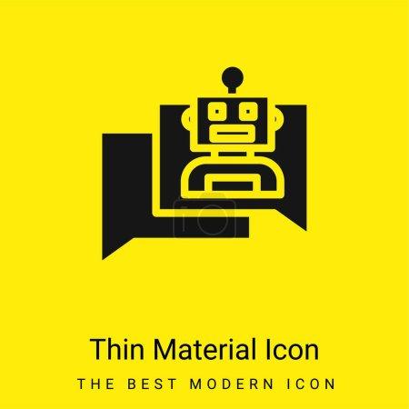 Foto de Bot mínimo icono de material amarillo brillante - Imagen libre de derechos