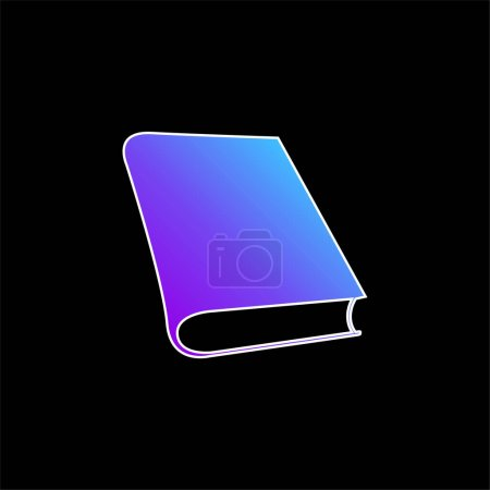 Foto de Libro para el estudio de lectura azul degradado icono del vector - Imagen libre de derechos