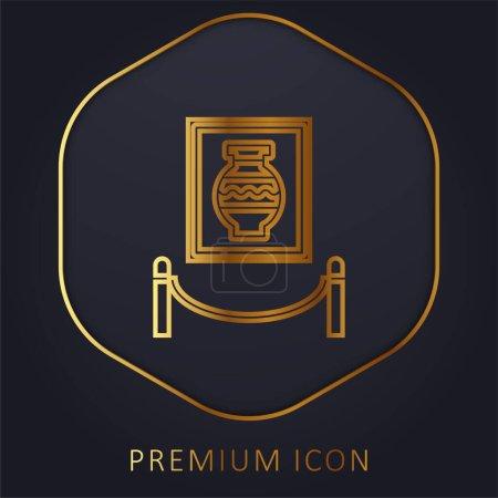 Illustration pour Art ligne d'or logo premium ou icône - image libre de droit
