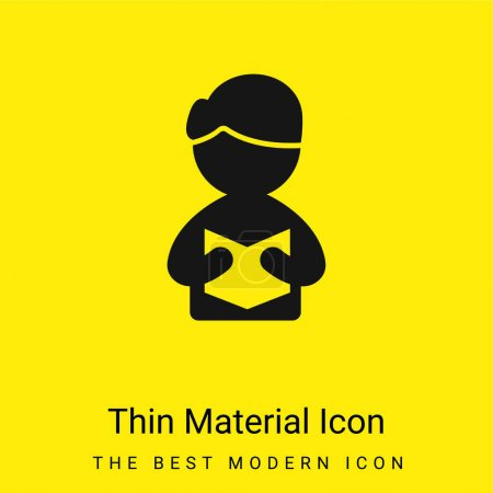 Illustration pour Livre minime icône matériau jaune vif - image libre de droit