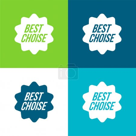 Illustration for Best Choice Commercial Symbol Flat four color minimal icon set - Royalty Free Image