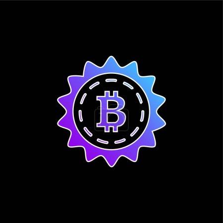Illustration pour Bitcoin Remise Symbole Commercial bleu dégradé vectoriel icône - image libre de droit