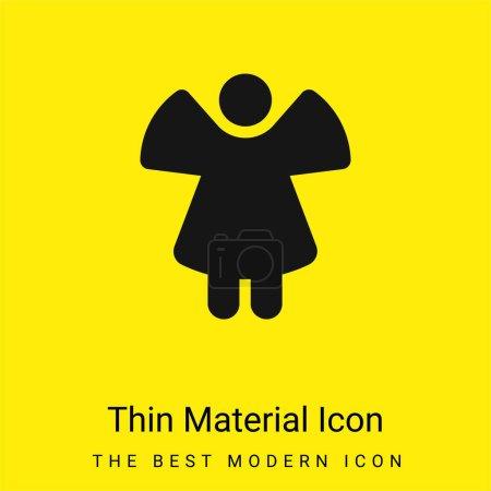 Photo pour Ange minimal jaune vif icône matérielle - image libre de droit