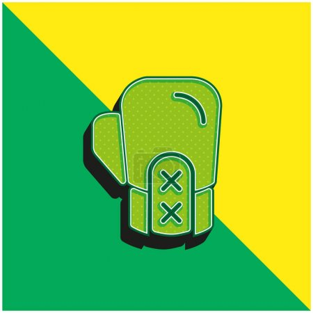Boxing Green and yellow modern 3d vector icon logo