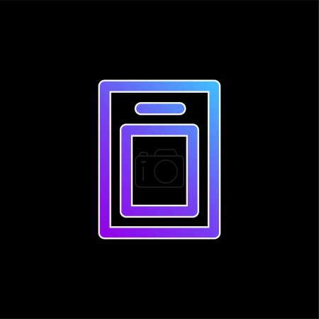 Illustration for Board blue gradient vector icon - Royalty Free Image