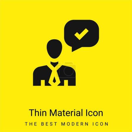 Illustration pour Icône matérielle jaune vif minimale approuvée - image libre de droit