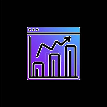 Illustration pour Icône vectorielle de dégradé bleu analytique - image libre de droit