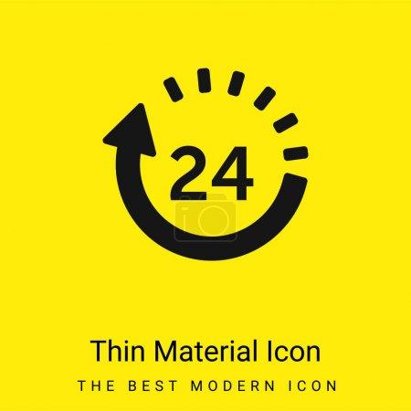 Illustration pour 24 Heures de livraison minimale icône de matériau jaune vif - image libre de droit