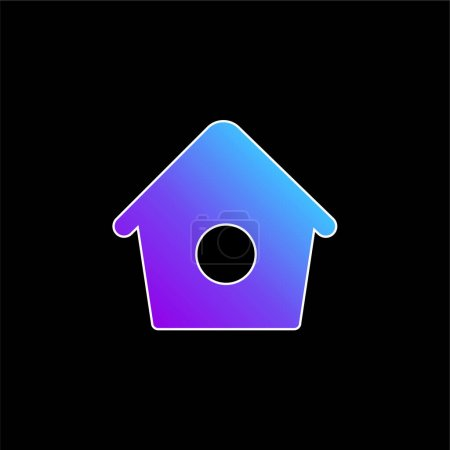 Illustration for Bird Home With Small Hole blue gradient vector icon - Royalty Free Image