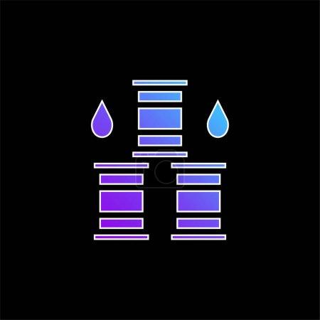 Photo pour Icône vectorielle de dégradé bleu tonneau - image libre de droit
