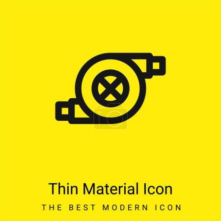 Illustration pour Filtre à air minime icône matériau jaune vif - image libre de droit