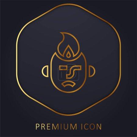 Anger golden line premium logo or icon