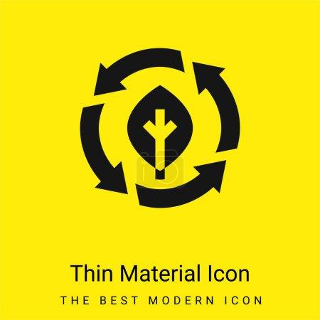 Illustration for Bio minimal bright yellow material icon - Royalty Free Image