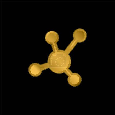 Photo pour Atomic Bond icône métallique plaqué or ou vecteur de logo - image libre de droit