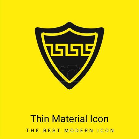 Aspis mínimo icono de material amarillo brillante