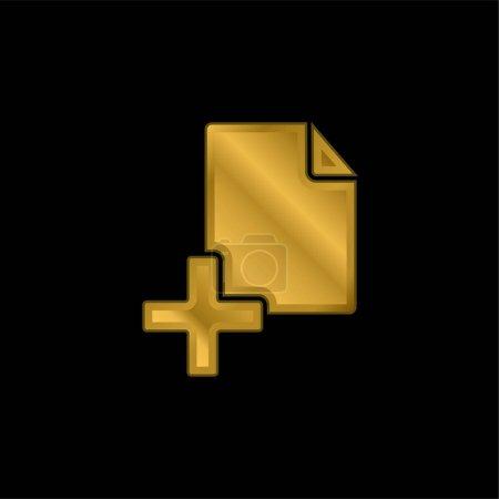 Illustration pour Ajouter un fichier icône métallique plaqué or ou vecteur de logo - image libre de droit