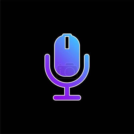 Illustration pour AD Radio icône vectorielle de dégradé bleu - image libre de droit