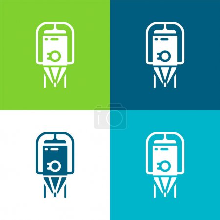 Illustration for Brewing Flat four color minimal icon set - Royalty Free Image