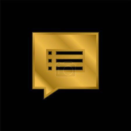 Illustration pour Argument icône métallique plaqué or ou vecteur de logo - image libre de droit