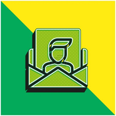Illustration pour Appliquer vert et jaune icône vectorielle 3d moderne logo - image libre de droit