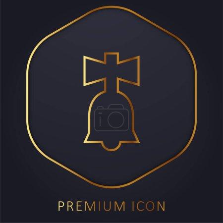 Illustration pour Bell Toy ligne d'or logo premium ou icône - image libre de droit