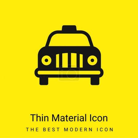 Illustration pour Taxi de l'aéroport icône matérielle jaune vif minimale - image libre de droit