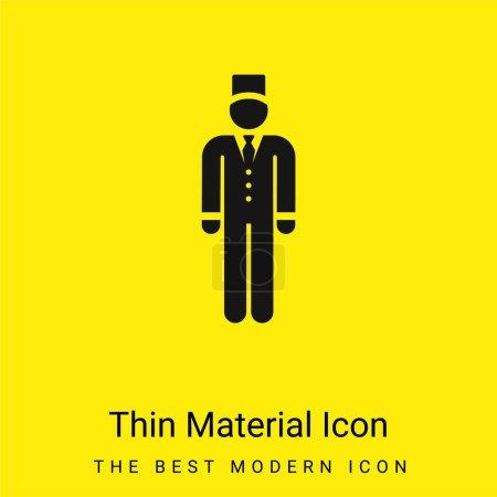 Illustration pour Icône matérielle jaune vif minimale Bell Boy - image libre de droit