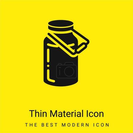 Photo pour Bouteille minimale icône matériau jaune vif - image libre de droit