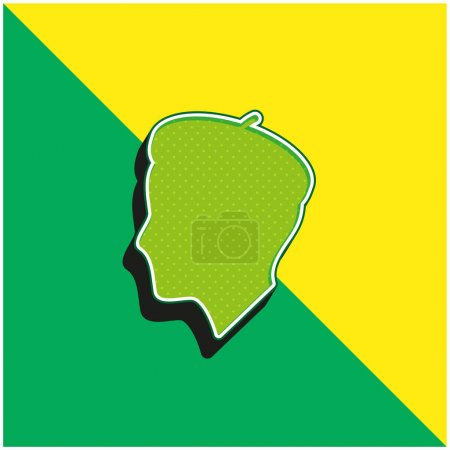 Illustration for Artist Profile Green and yellow modern 3d vector icon logo - Royalty Free Image