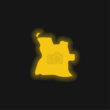 Angola yellow glowing neon icon
