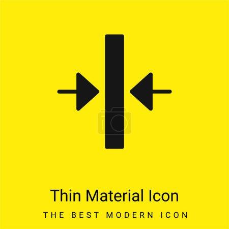 Foto de Alinear mínimo icono de material amarillo brillante - Imagen libre de derechos