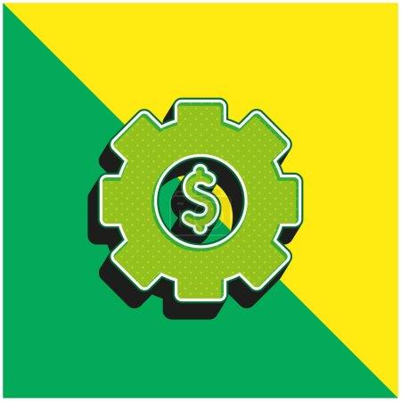Photo pour Asset Management Logo vectoriel 3D moderne vert et jaune - image libre de droit