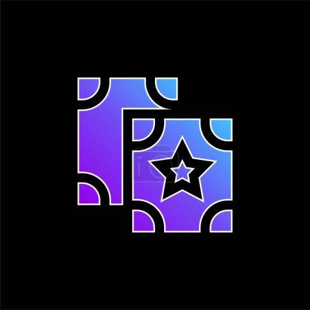 Illustration pour Astrologie icône vectorielle dégradé bleu - image libre de droit