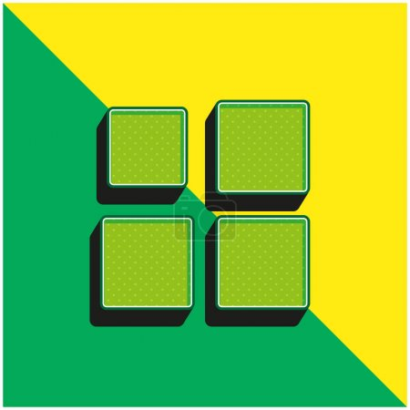 Illustration for Array Green and yellow modern 3d vector icon logo - Royalty Free Image