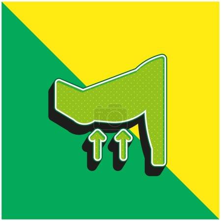 Photo pour Bras Logo vectoriel 3D moderne vert et jaune - image libre de droit