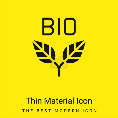 Bio minimal leuchtend gelbes Material Symbol