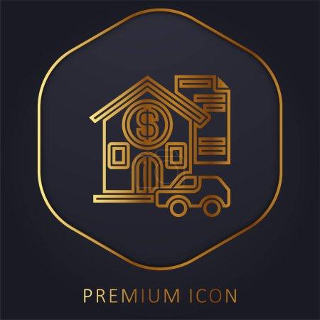 Illustration for Asset golden line premium logo or icon - Royalty Free Image