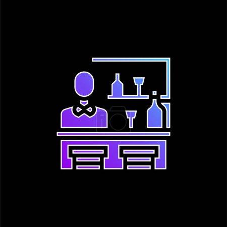 Illustration pour Icône vectorielle de dégradé bleu barre - image libre de droit