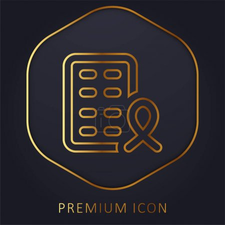 Photo for Aids golden line premium logo or icon - Royalty Free Image