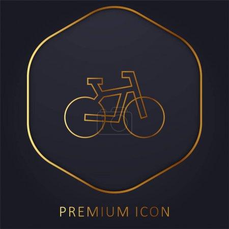 Photo pour Vélo ligne d'or logo premium ou icône - image libre de droit