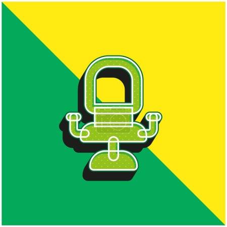 Illustration pour Fauteuil Logo vectoriel 3D moderne vert et jaune - image libre de droit