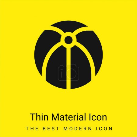 Beach Ball minimal bright yellow material icon