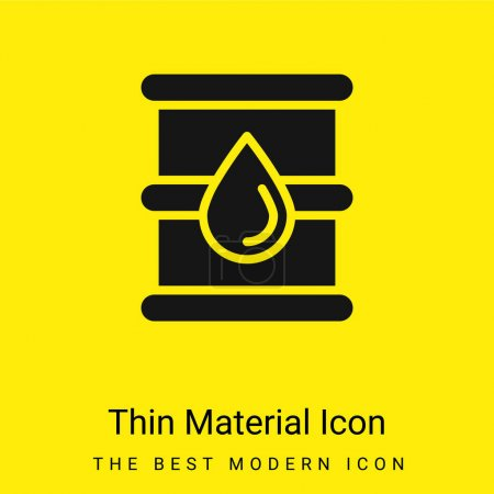 Photo for Barrel minimal bright yellow material icon - Royalty Free Image